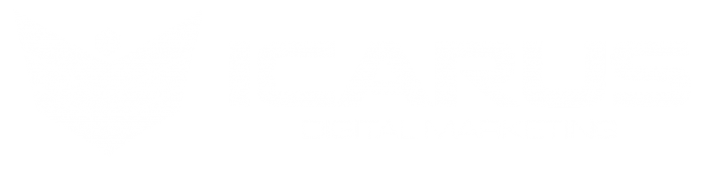 icarus digital marketing logo white font