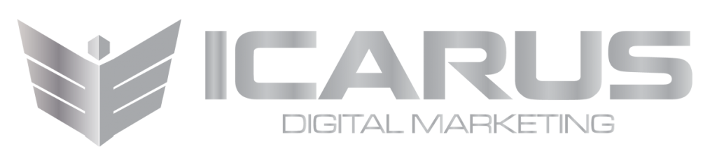icarus digital marketing logo metallic
